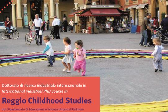 """Online il bando di concorso per l'ammissione al Dottorato di Ricerca in """"Reggio Childhood Studies - from early childhood to lifelong learning"""""""